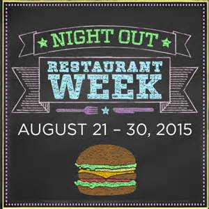 Night Out Restaurant Week Begins Aug 21!