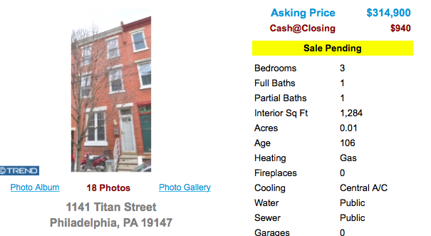 1141 Titan Street in Philadelphia is Pending Active-O